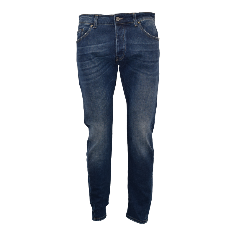 Washed Jeans with Distressed Edges
