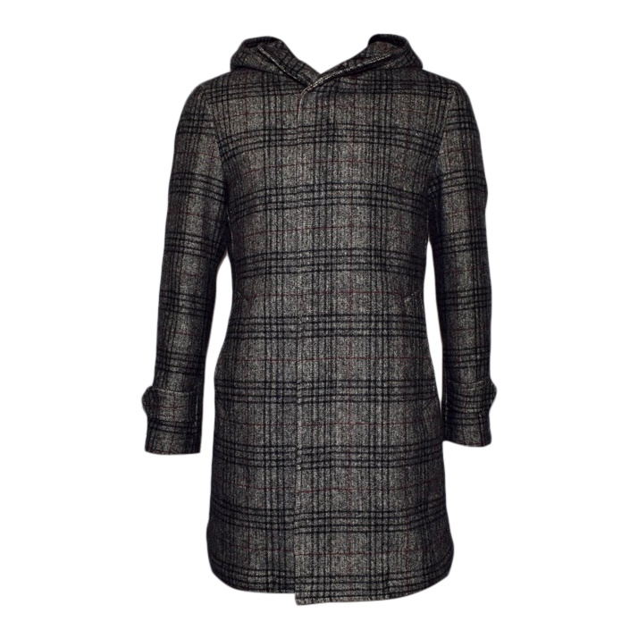 Plaid Wool Overcoat