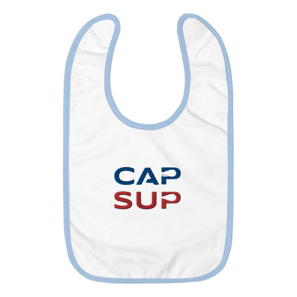 CAP SUP Embroidered Baby Bib