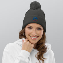Load image into Gallery viewer, Capital SUP Logo pom pom beanie