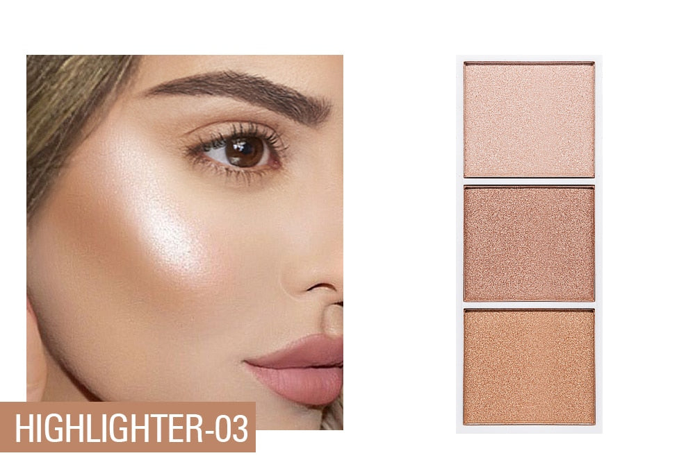 SACE LADY-4 Colors Highlighter Palette
