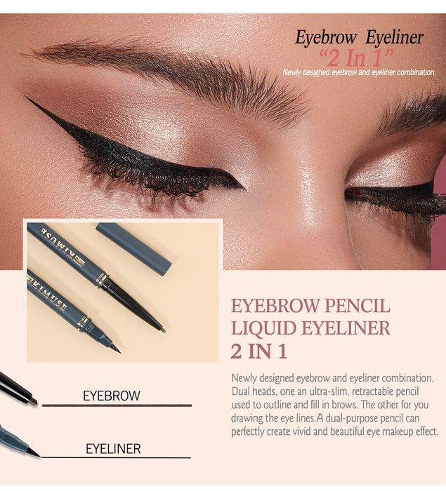 KIMUSE-2 In1 Eyebrow Pencil & Liquid Smooth Eye Liner
