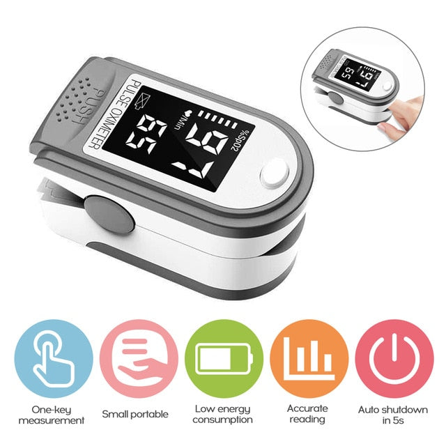 Oximeter Pulse Finger Oxygen Blood Digital Monitor Led
