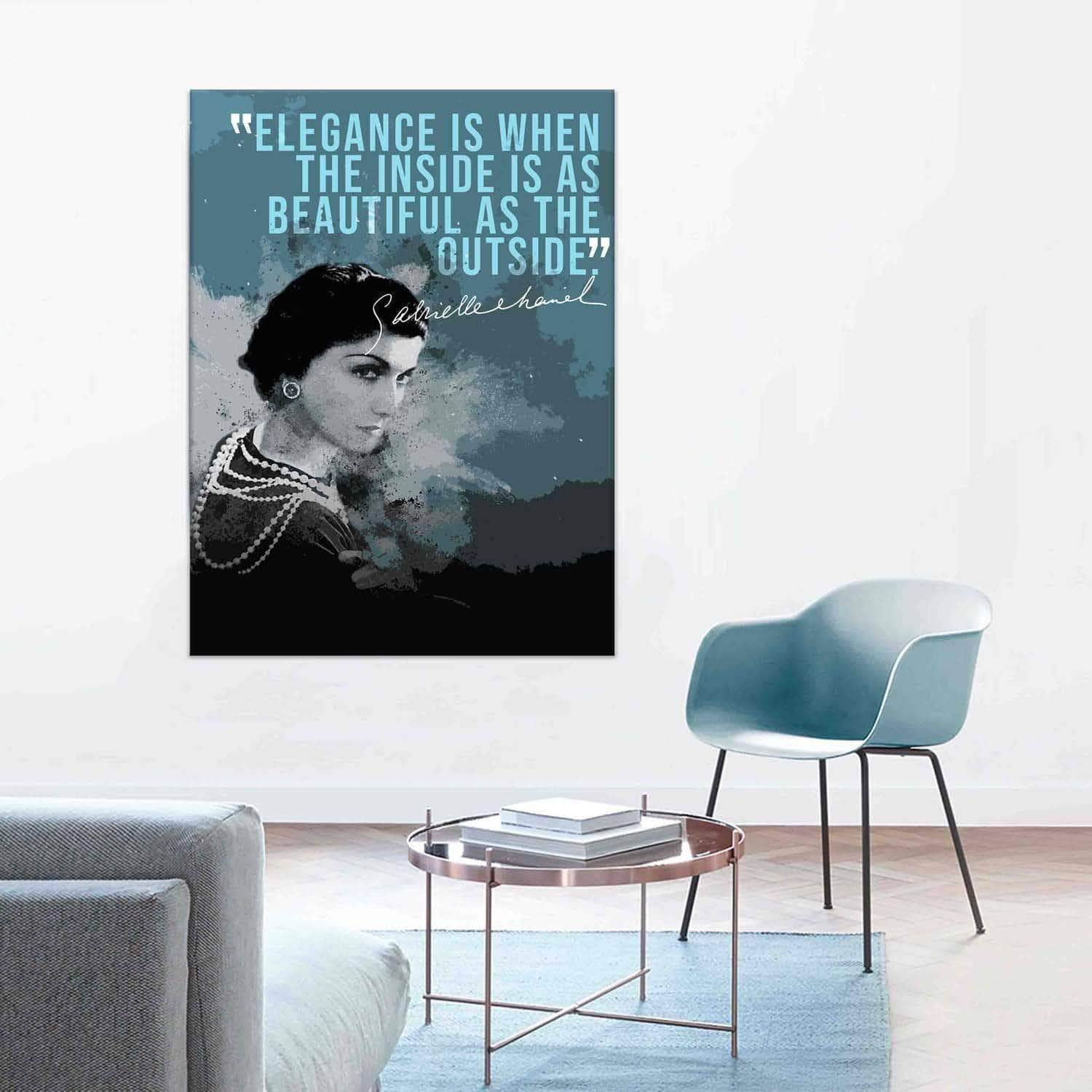 Coco Chanel Quote Canvas Prints Online Pictadesign Picta Design