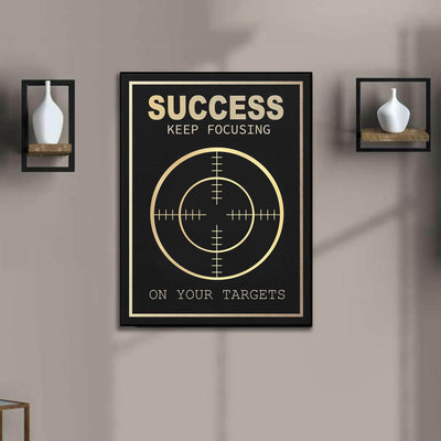 Picta Design motivational Keep Focusing On Your Targets