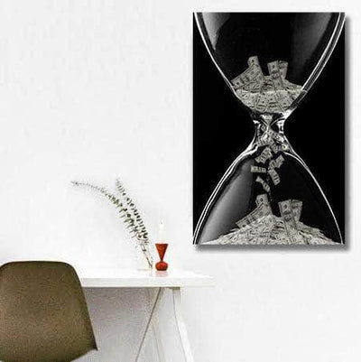 Picta Design motivational Time is Money - Hourglass