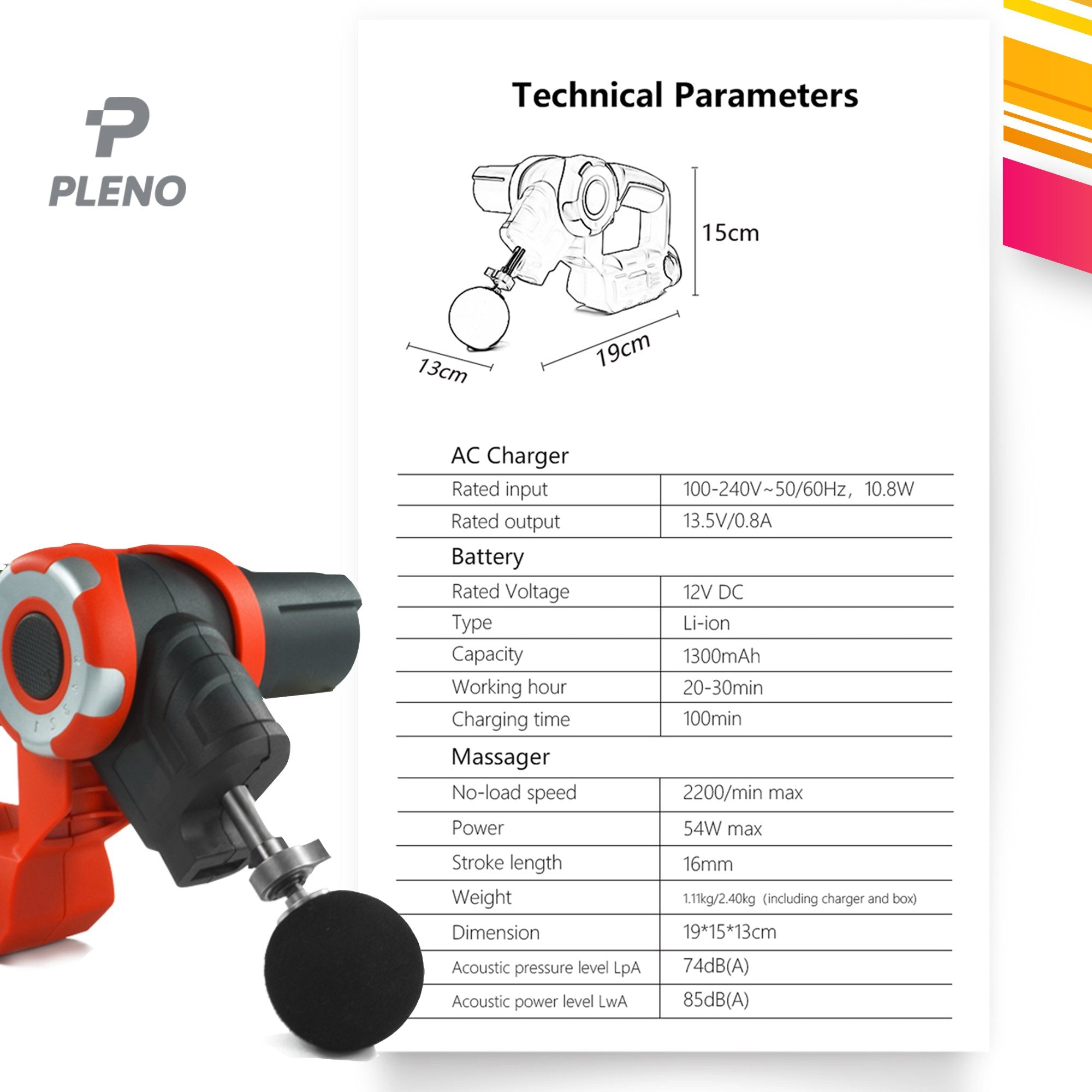 Pleno M2.1 Massage Gun