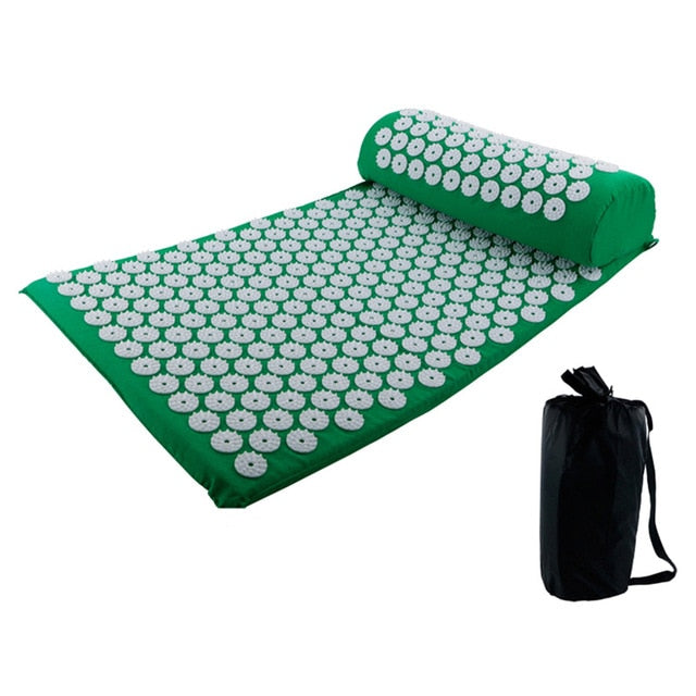 Acupressure Yoga Mat and Pillow Set