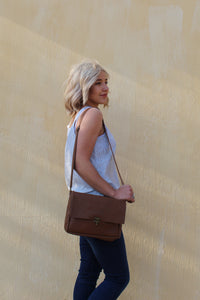 steffie satchel in tan