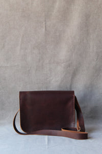 classic satchel with stitching pattern