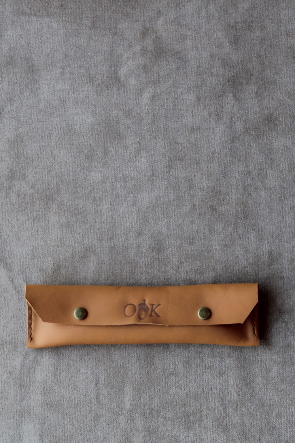 photo of the pencil case in tan