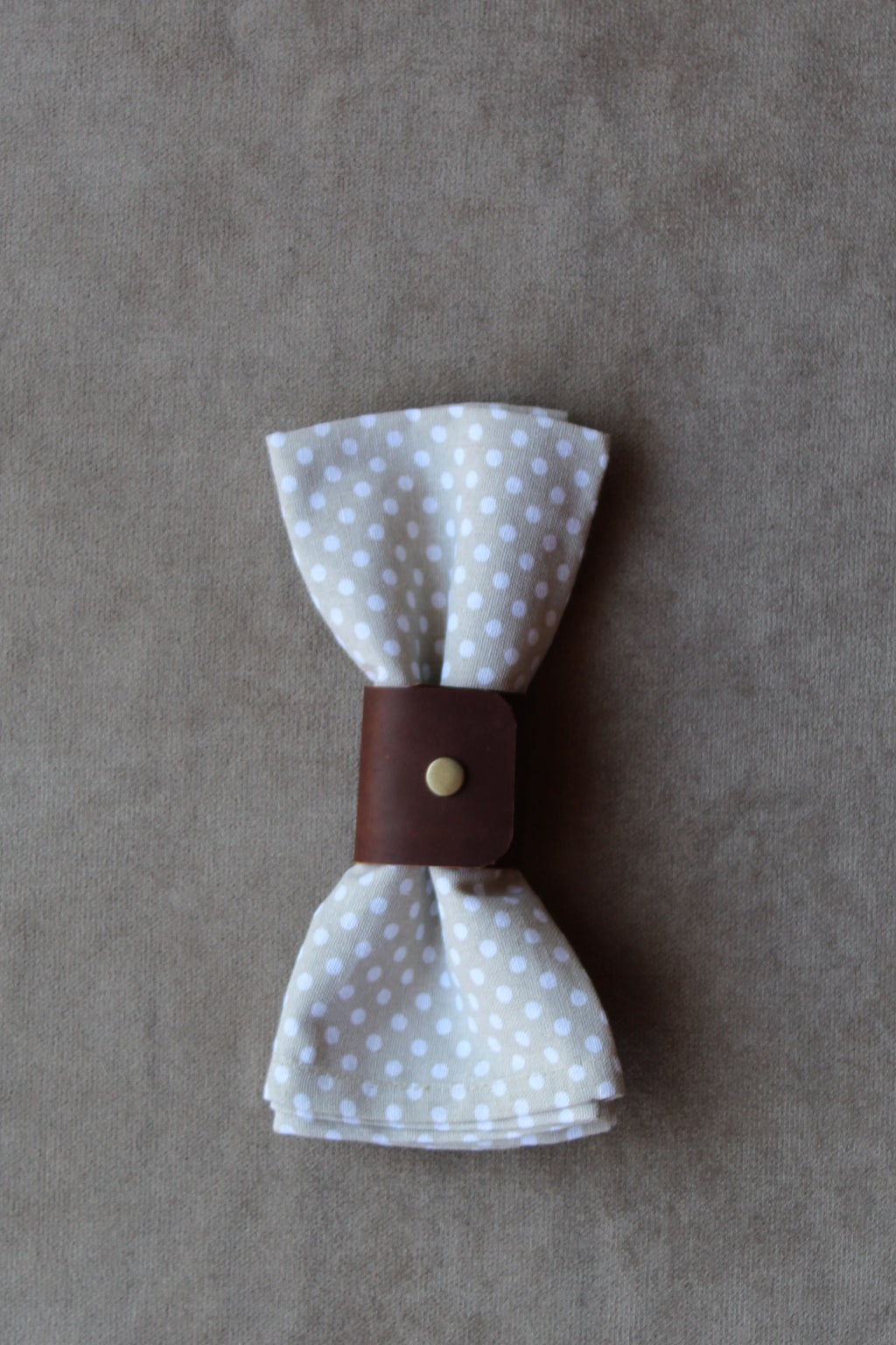 photo of leather napkin ring