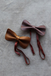 photo of the leather bowties