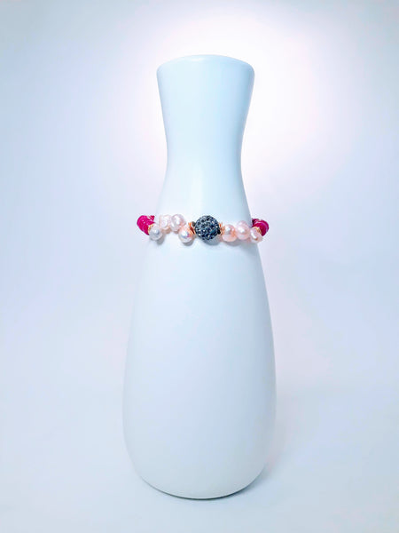 My Hope Signature Pearl and Pink Jade Bracelet