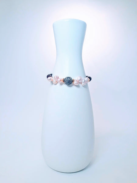 My Hope Signature Pearl and Ruby Jade Bracelet