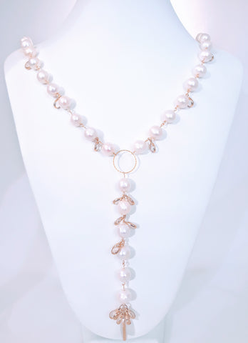The Signature Crystal and Pearl Necklace