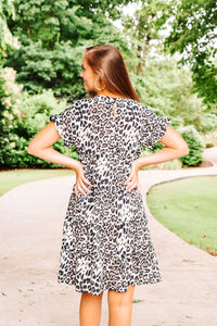 Take the Risk Dress - Leopard