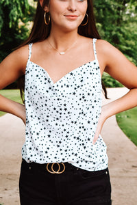 Starry Eyes Tank Top - White