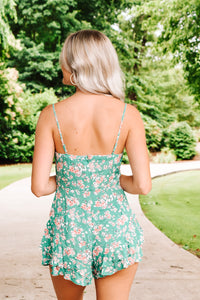 Weekend With You Romper - Green