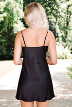 Load image into Gallery viewer, Eyes on you Slip Dress - Black