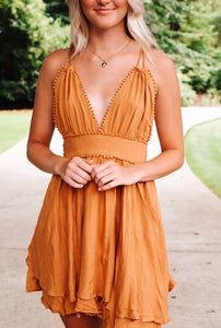 Fun & Flirty Dress - Camel