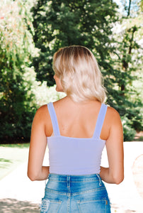 Adore You Crop Top - Lilac