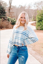 Load image into Gallery viewer, Becca Striped Sweater - Blue