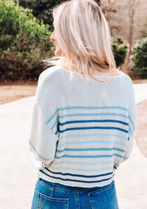 Becca Striped Sweater - Blue
