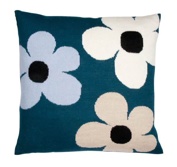 lucky flower pillow case green