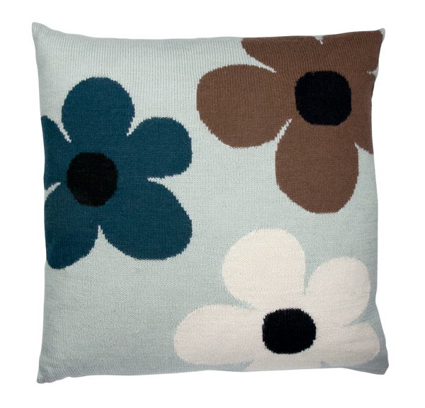 lucky flower pillow case mint