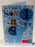 1st Birthday Card - Son
