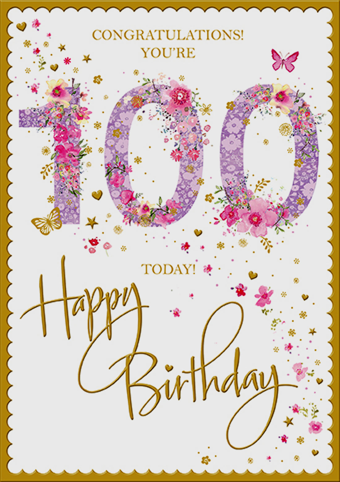 100th Birthday Card For A Woman