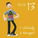 13th Birthday Card Male Teenager