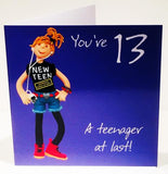 13th Birthday Card