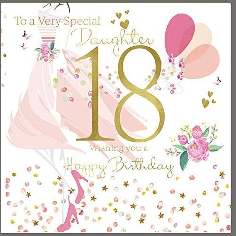 Large 18th Daughter Birthday Card