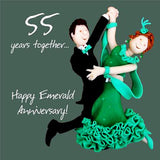 55th Anniversary Card - Emerald
