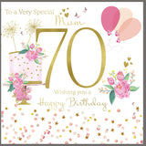 Large 70th Birthday Card For Mum