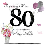 Large Mum 80th Birthday Card