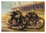 Classic Motorcycling Greeting Card