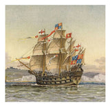 Sailing Ship Birthday Card - The Great Harry