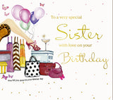 Sister Birthday Card With Diamante