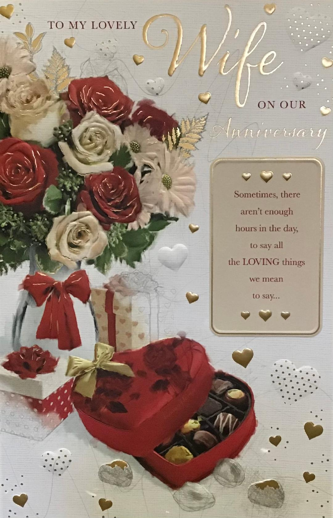 Large Wife Anniversary Card