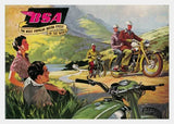 BSA Motorcycle Card