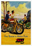 Classic BSA Motorcycle Card