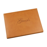 Tan Guests Record Book - EL313 - HerbysGifts.com