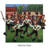 Morris Men Folk Dancing Greeting Card