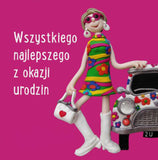Happy Birthday Card for a Woman in Polish