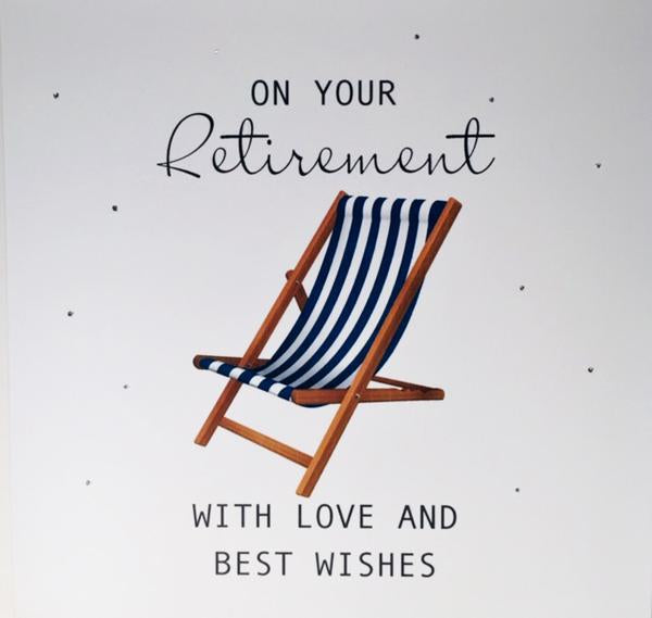 Retirement Card -Deckchair