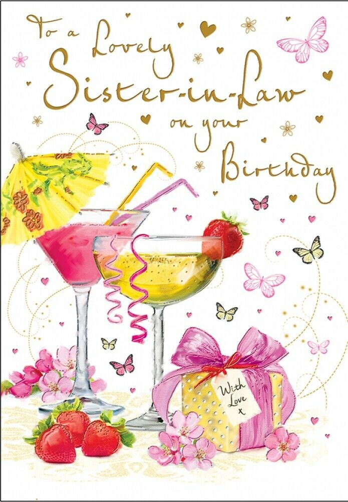 Sister-in-Law Birthday Card