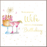 Wife Birthday Card With Diamante